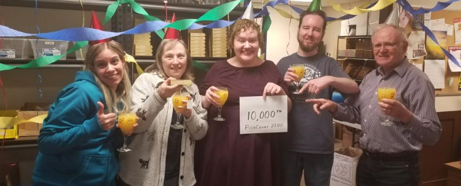 The VehicleCounts.com crew celebrating 10k Picos!